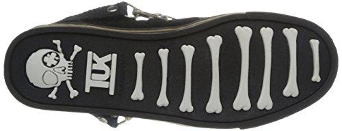 T.U.K. Creeper Sneakers - Zapatillas de cuero para hombre Negro (Nero (Noir/léopard))