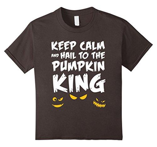Kids Homemade King Costume (Kids Halloween Costume Shirt Hail To The Pumpkin King 8 Asphalt)