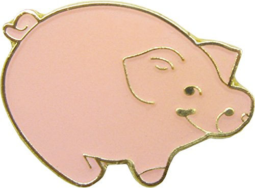 0.625 Baby Pin (Little Pink Happy Pig - Enamel Pin)