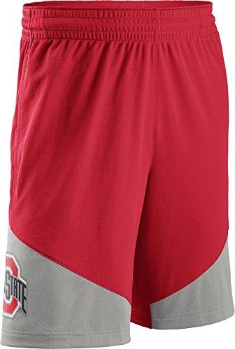 Nike Men's Ohio State Buckeyes Scarlet/Gray New Classics ELITE Basketball Shorts (Ohio Athletic Shorts)