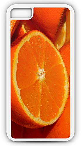 iPhone 7 Case Orange Fruit Vitamins Vitamin C Citrus Fruits Florida Navel Customizable by TYD Designs in White Plastic Black Rubber Tough Case