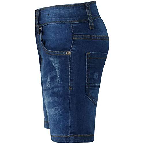 eec26143f593 Kids Boys Denim Shorts Ripped Chino Bermuda Jeans Short Knee Length Pant  5-13 Yr