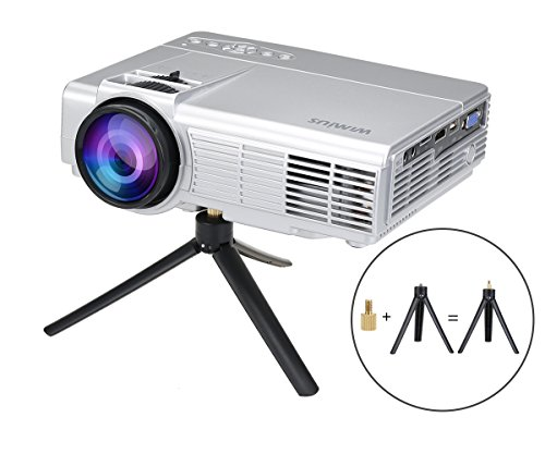 Wimius t3 1200 lumens 100 inch led video projector mini for Led projector ipad
