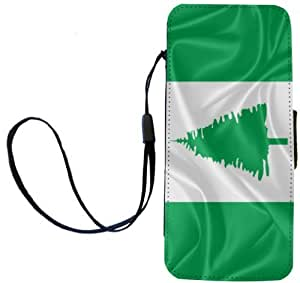 Rikki Knight Norfolk Island Flag Flip Wallet iPhoneCase with Magnetic Flap for iPhone 5/5s - Norfolk Island Flag