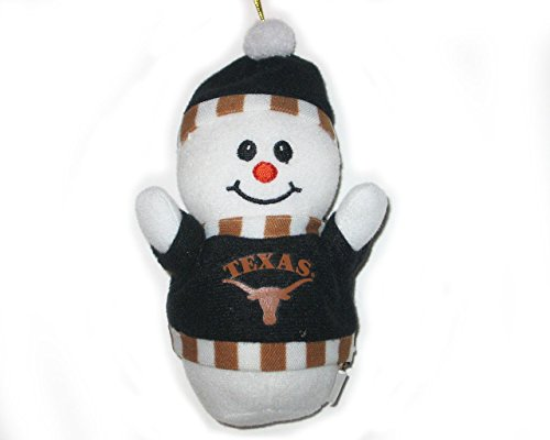 Texas Longhorns Plush Snowman Christmas -