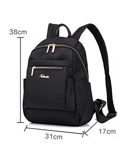 grande 40cm New fashionShoulde Women Rucksack 20cm Bag Nero Purple Large 34cm q1wvaqp