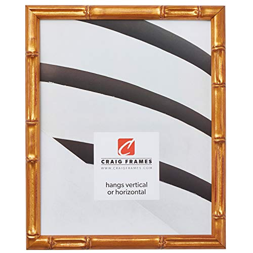 Craig Frames Vintage Gold Bamboo Composite Picture Frame, 12 by 18-Inch ()