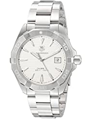 TAG Heuer Mens Aquaracer Swiss Automatic Stainless Steel Dress Watch, Color:Silver-Toned (Model: WAY2111.BA0928)