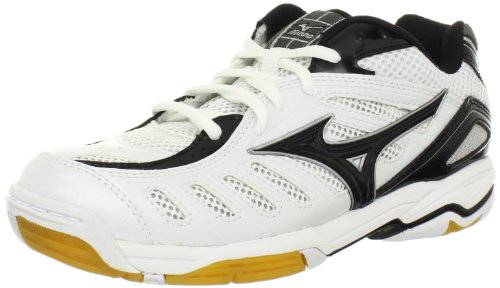Mizuno Women's Wave Rally 4 Volleyball Shoe,White/Black,6 M US ()