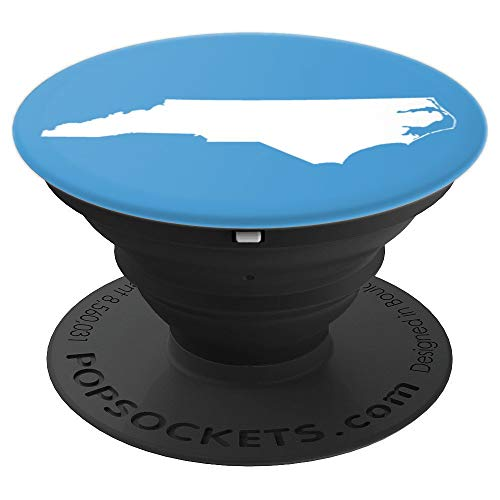 North Carolina State Map Love Home Tar Heel State In Blue - PopSockets Grip and Stand for Phones and Tablets