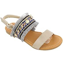 TravelNut Easter Spring Sale Annie Embroidered Open Toe Buckled Gladiator Sandals For Little Girls (Assorted Colors)