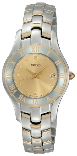 Two-Tone Champagne Dial Dress Watch (Seiko Ladies Watch Champagne Dial)