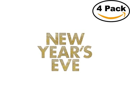Movie New Years Eve Logo 4 Stickers 4X4 Inches Car Bumper Window Sticker Decal