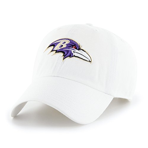 (OTS NFL Baltimore Ravens Male Challenger Adjustable Hat, White, One Size)