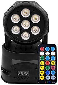 ステージライト サウンドは、お祝い誕生日パーティーバーホームルームダンス用ヘッドステージライトは、リモートカラフルな舞台照明を回転させ、DMXコントロールディスコライト7つのライトの移動活性化 (Size : B)