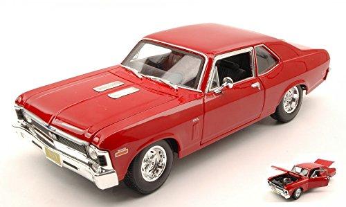 CHEVROLET NOVA SS COUPE' 1970 rosso 1 18 Maisto Auto Stradali modello modellino die cast