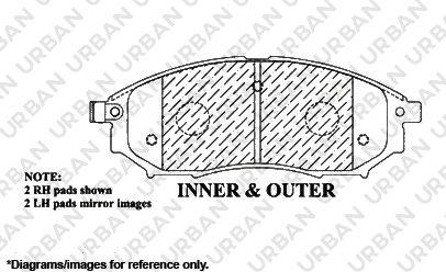 4 Black Zinc Plated Drilled Disc Rotors 5lug 8 Ceramic Pads -Combo Brake Kit F+R Full Kit