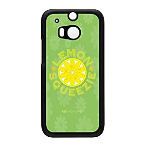 Sassy - Lemon Squeezie 10434 Black Hard Plastic Case Snap-On Protective Back Cover for HTC? One M8 by Sassy Slang + FREE Crystal Clear Screen Protector