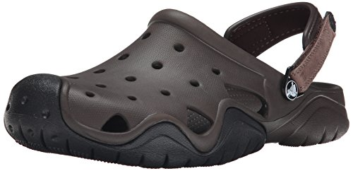 crocs Men's Swiftwater Clog M Mule, Espresso/Black, 13 M US