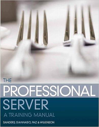 kitchen training manual