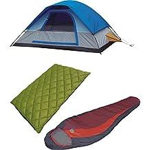 High Peak USA Alpinizmo Redwood -5 + Florida 0 + Magadi 5 tent combo set, Red/Green/Blue, One Size