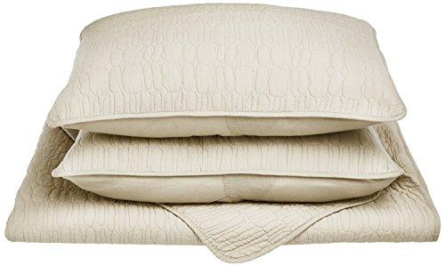 UPC 855031120711, Impressions 100% Cotton, Soft, 3-Piece King/California King Mckinley Quilt Set, Ivory