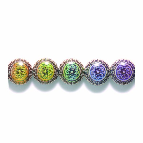 Shipwreck Beads Mirage Polymer Color Change Blossom Disc Mood Beads, 8 by 16mm, 2-pack