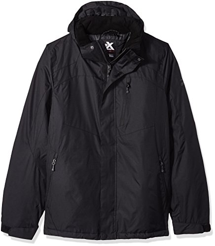 ZeroXposur Men's Big Beacon Insulated Grid Dobby Mid-Weight Jacket, Black, X-Large Tall Beacon Insulated Jacket