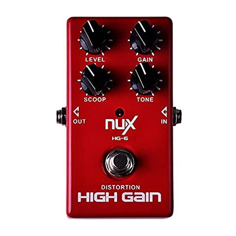 NUX HG-6 Professional Electronic Guitar Pedal Guitarra Violao Distortion High Gain Amp Simulator and Unique Voice Control Electric Effect Pedal Software True Bypass for Electronic Guitar and (Bass Guitar Volume Pedal)