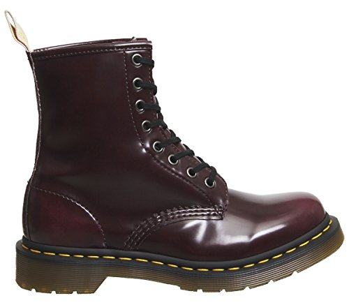 Synthetic Martens Eyelet Dr Leather 8 Red Boots Womens Vegan Cherry 1460 qY4XU4x