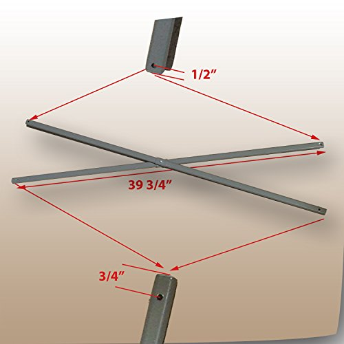 Coleman 10x10 Instant Sun Shelter Canopy & Swingwall-SIDE Truss Bars 39 3/4'' Replacement Parts by Coleman Replacement Parts