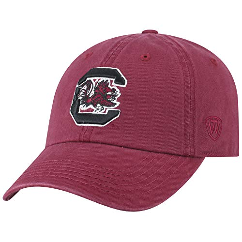 Gamecock Carolina South University Logo (Top of the World NCAA-Cotton Crew-City-Adjustable Strapback-Hat Cap-South Carolina Gamecocks-Garnet)