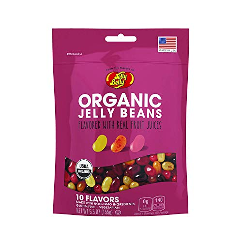 Jelly Belly Organic Jelly Beans, 10 Fruit Flavors, 5.5-oz