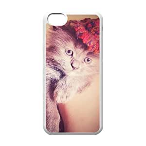 iPhone 5c White Cell Phone Case Ginger Cat STY791470 Phone Case For Men