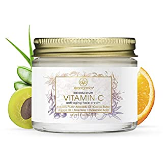 Vitamin-C Face Moisturizer & Eye Cream - Revitalizing Natural Anti Aging Moisturizer With Kakadu Plum, Jojoba Oil, Avocado Oil, Vitamin E for Dry Skin Care, Wrinkles, Aging & Eye Bags 2oz Era-Organics