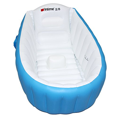 Signstek Baby Infant Travel Inflatable Non Slip Bathing Tub Bathtub Blue
