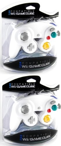 Two GameCube / Wii Compatible Controllers [White]