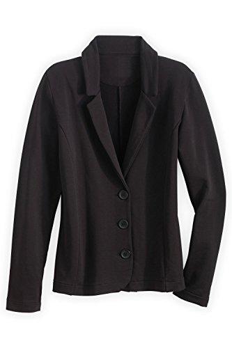 - Fair Indigo Fair Trade Organic Knit Blazer (L, Black)