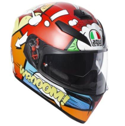 AGV Unisex-Adult Full Face K-3 SV Balloon Motorcycle Helmet (Multi, Medium/Small) ()