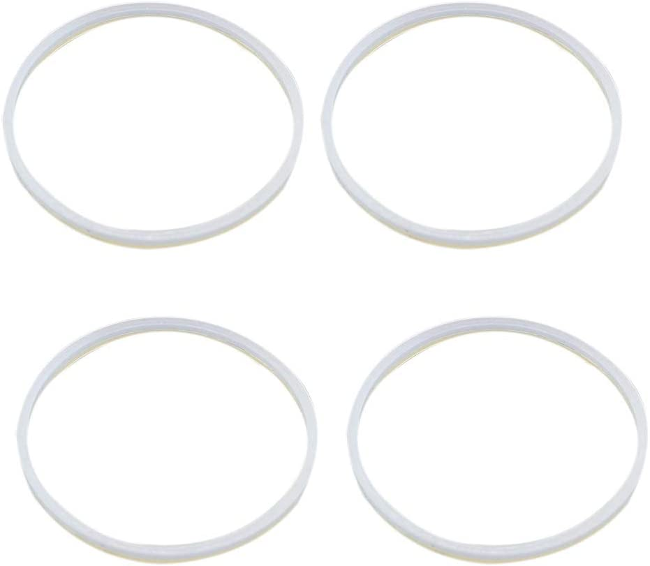 4 Pcs Rubber Gasket Sealing White O Ring Blender Gasket Replacement Parts for Ninja Juicer Blender 3.22''
