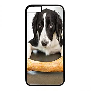Hard Back Cover Case for iphone 6 Plus,Cool Fashion Black PC Shell Skin for iphone 6 Plus with Cute Dog