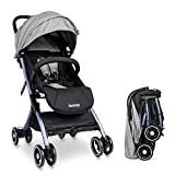 Lightweight Stroller Buggy, Besrey Travel Buggy with Reclinable Backseat Easy Fold Compact Airplane...