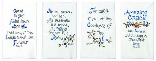 - Manual Decorative Guest Towels, Psalms, Set of 4