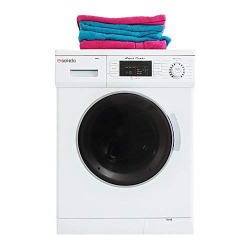 All in one Front Load 1.6 Cu.ft. New Compact Combo Washer Dryer SK 4400 CV White with Optional Venting/ Condensing Drying with Automatic Water Level and Sensor Dry by Sekido