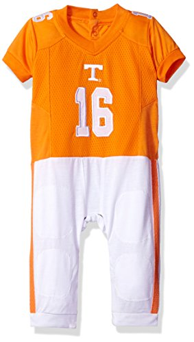 (FAST ASLEEP NCAA Tennessee Volunteers Boys Infant Football Uniform Pajamas, 3-6 Months, Orange/White)