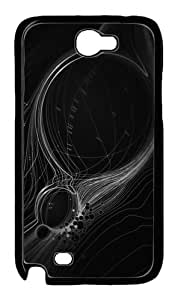 Abstract Lines Custom Samsung Galaxy N7100/Samsung Galaxy Note 2 Case Cover Polycarbonate Black