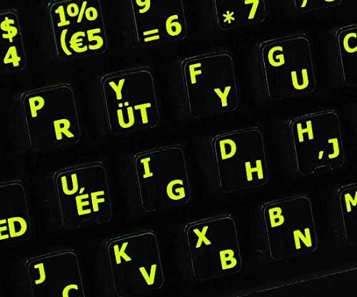 English Keyboard Stickers Glowing Fluorescent Programmer Dvorak