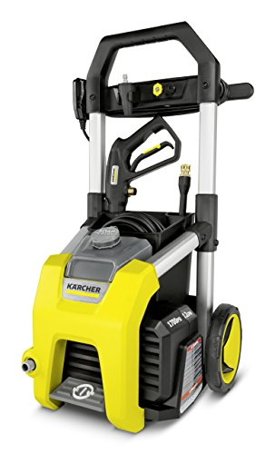Karcher K1700 Electric Power Pressure Washer 1700 PSI TruPressure, 3-Year Warranty, Turbo Nozzle Included by Karcher