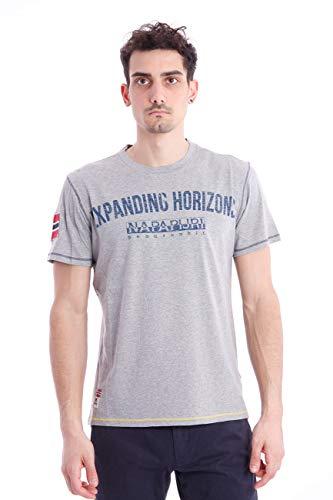 Napapijri Short Sleeve T-Shirt SELIZE, Mens, Size: L. Grey
