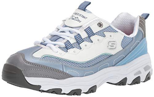 Skechers Women's D'Lites Health Care Professional Shoe, Light Blue/White, 9 M US